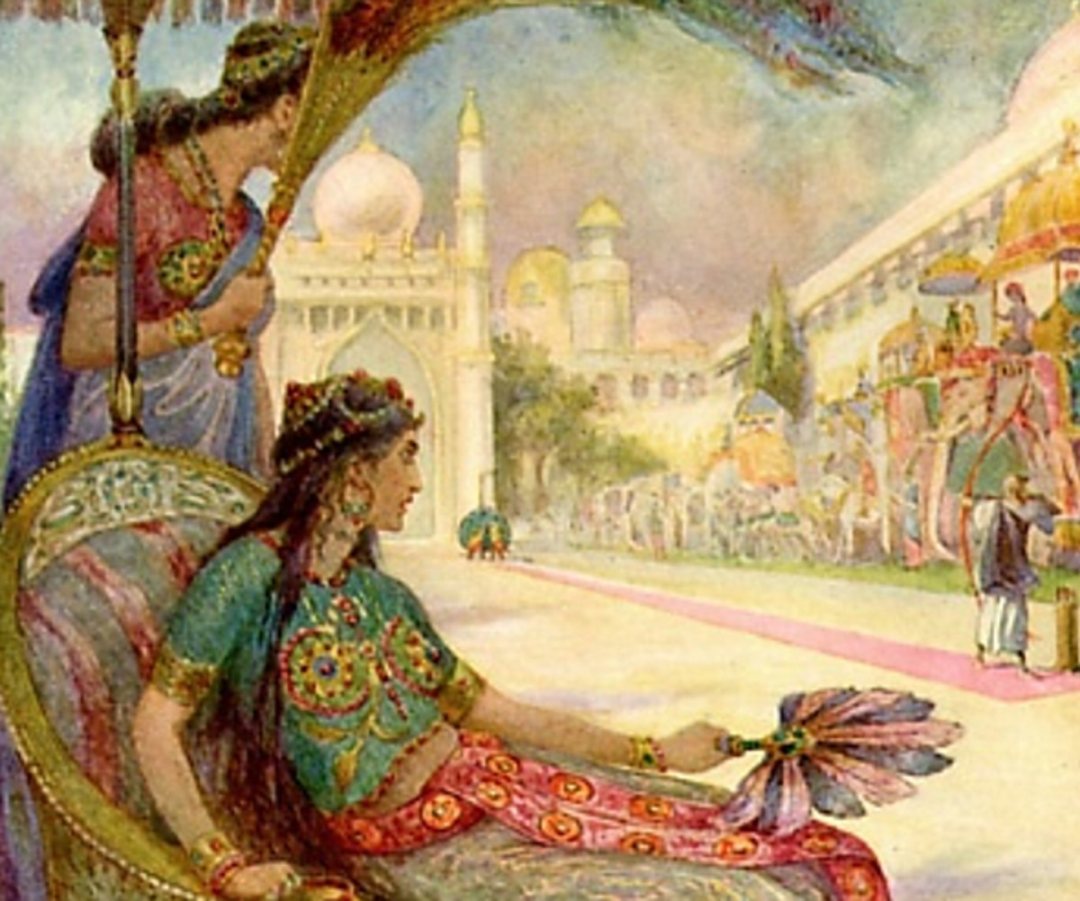 Here we show a portion of 'In a moment it was flying through the air' - it is from the suite prepared by Frank C Pape published in ''The Indian Story Book' (1914).