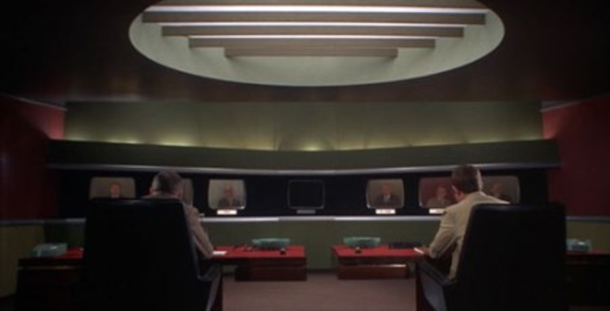 The teleconference scene.