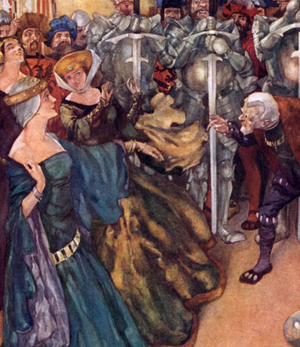 "Here we show a portion of 'I can tell a woman's age in half a minute - and I do' - it is from the suite by William Russell Flint published in ""Savoy Operas"" (1909)."