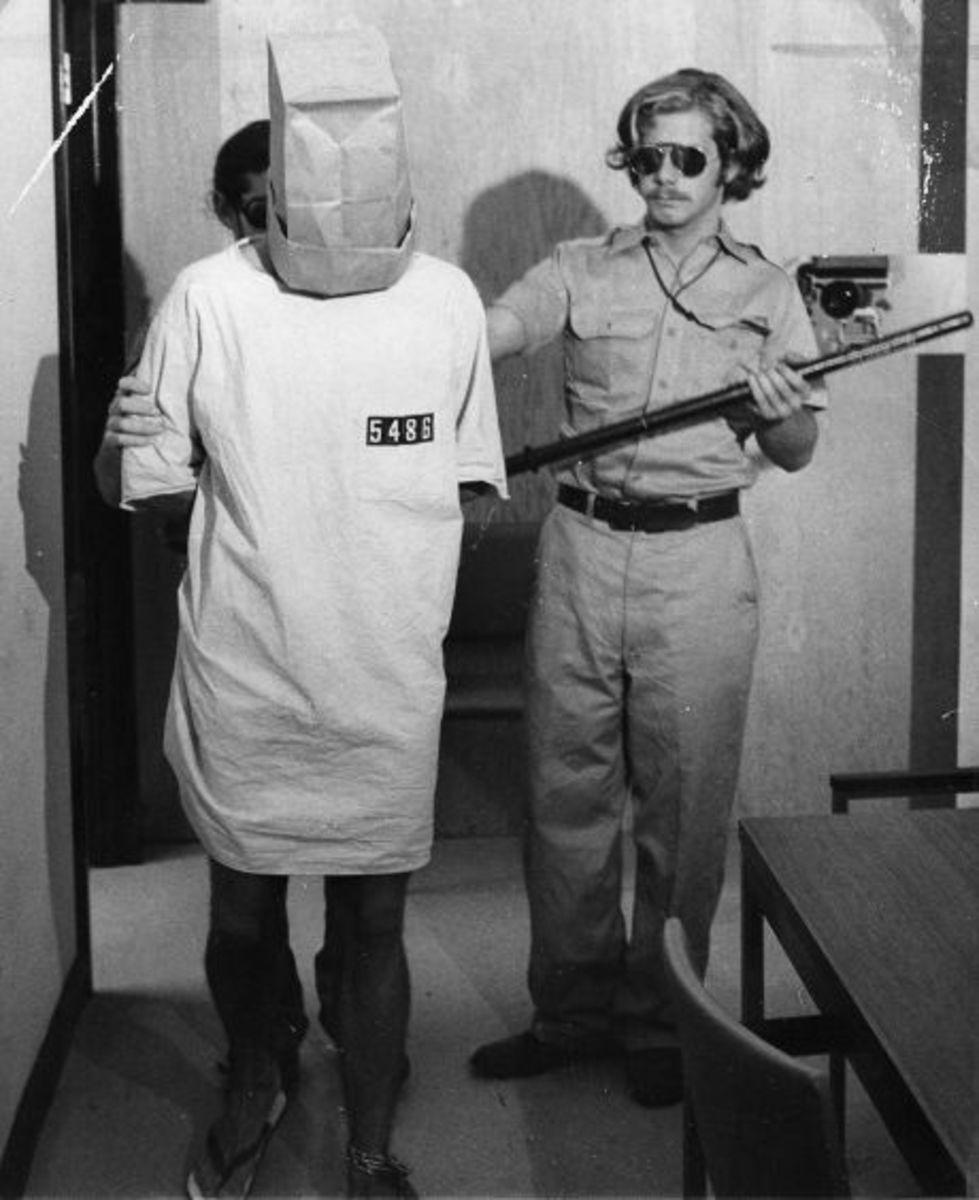 An example of one of the punishments that the guards gave a prisoner.