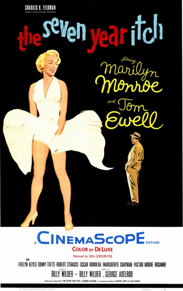 Movie poster for The Seven Year Itch