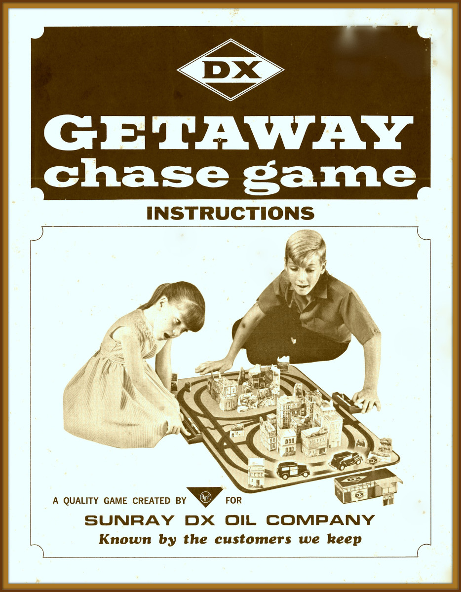 1960's Getaway Chase Game by the DX Sunray Oil Company