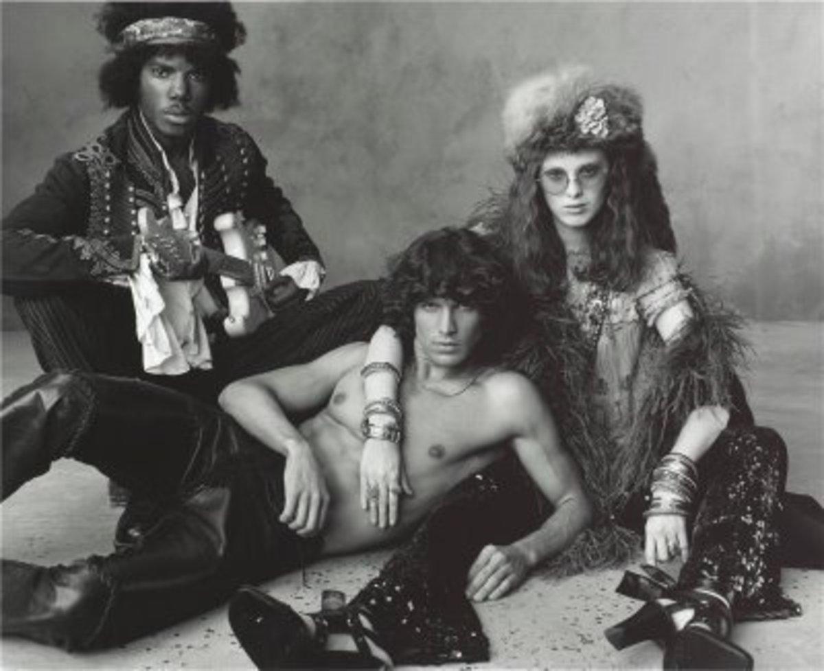 Jimi Hendrix, Jim Morrison, and Janis Joplin