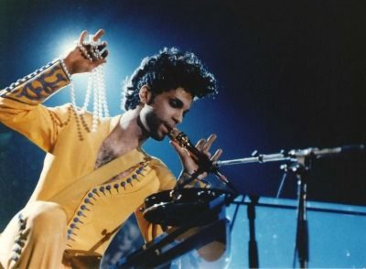 Prince during the Diamonds & Pearls Tour in 1992