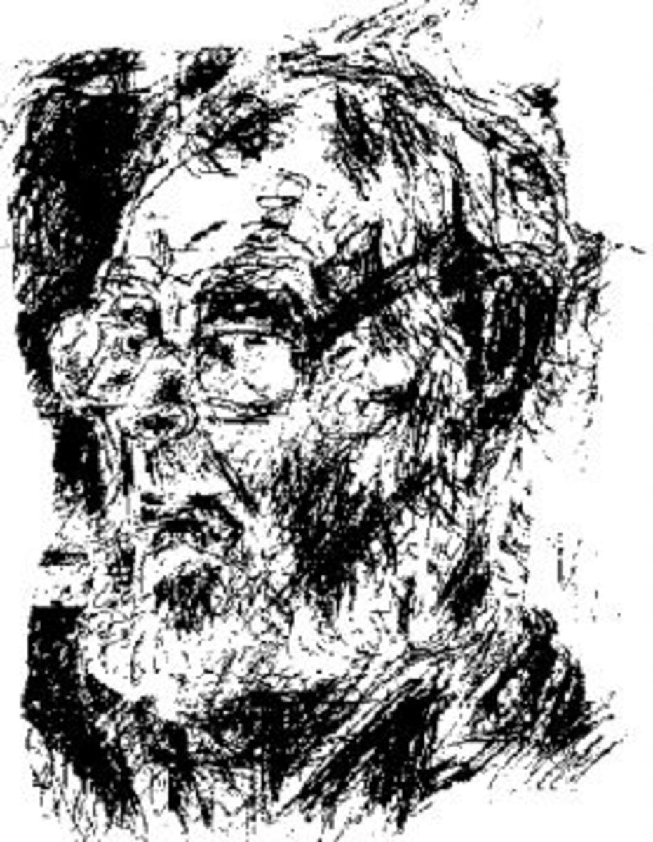 Lionel Abrahams. Scetch by Lionel Murcott.