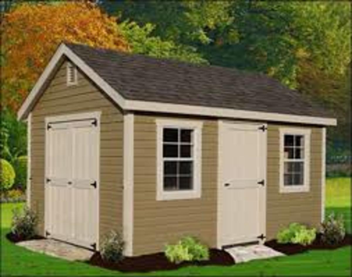 Solve your storage problems build your own shed