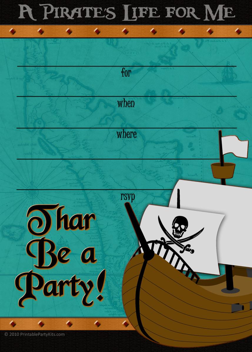 Teal pirate ship