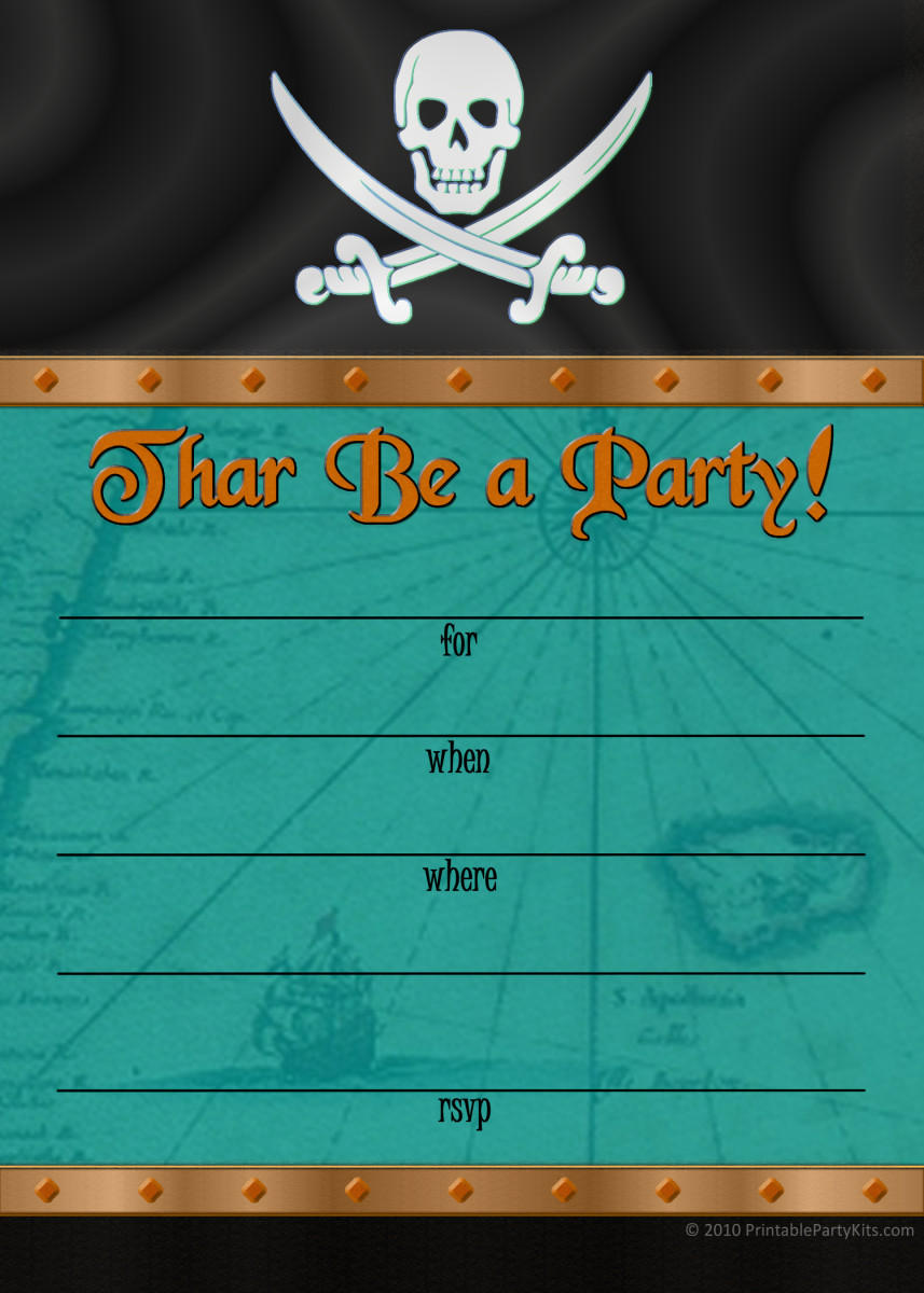Free Pirate Party Invitations Hubpages