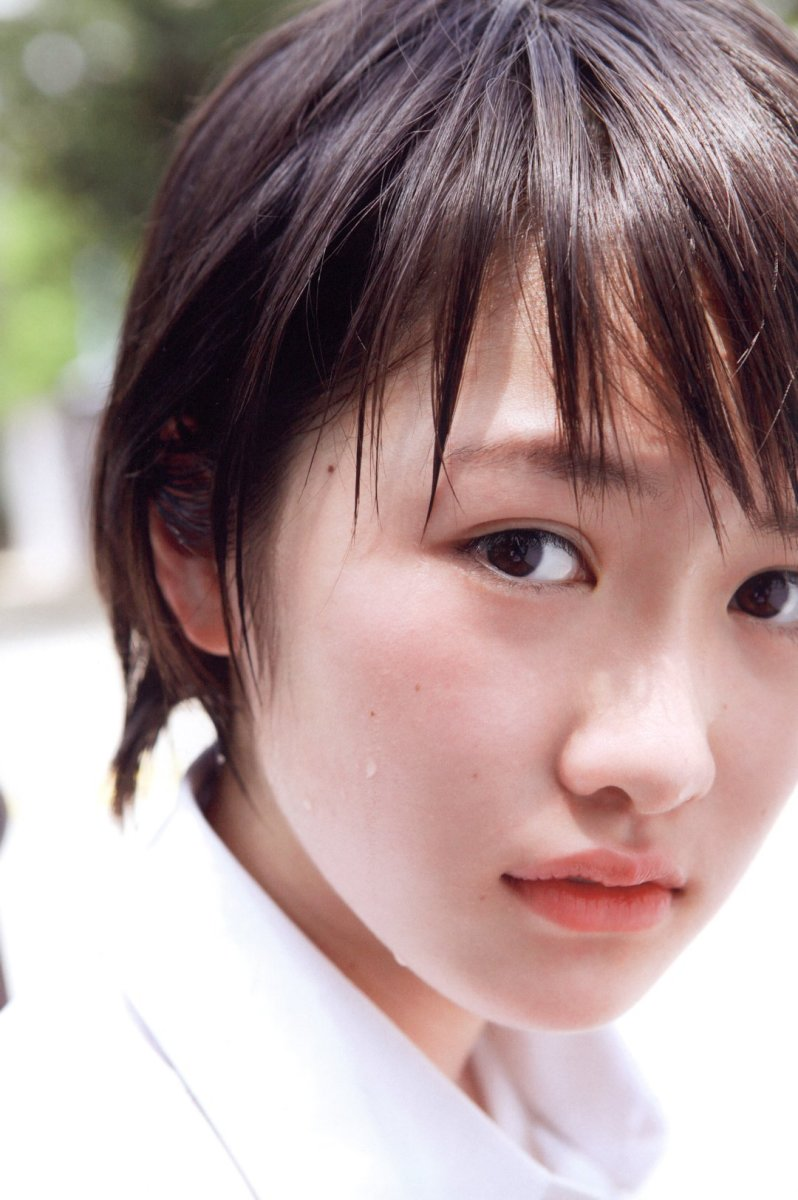 The face of Haruka Kudo from her 2nd solo photo book released on September 27, 2014.