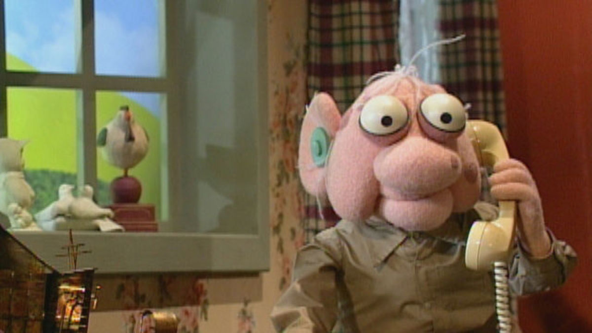 A typical setting for Crank Yankers. With one of the characters.