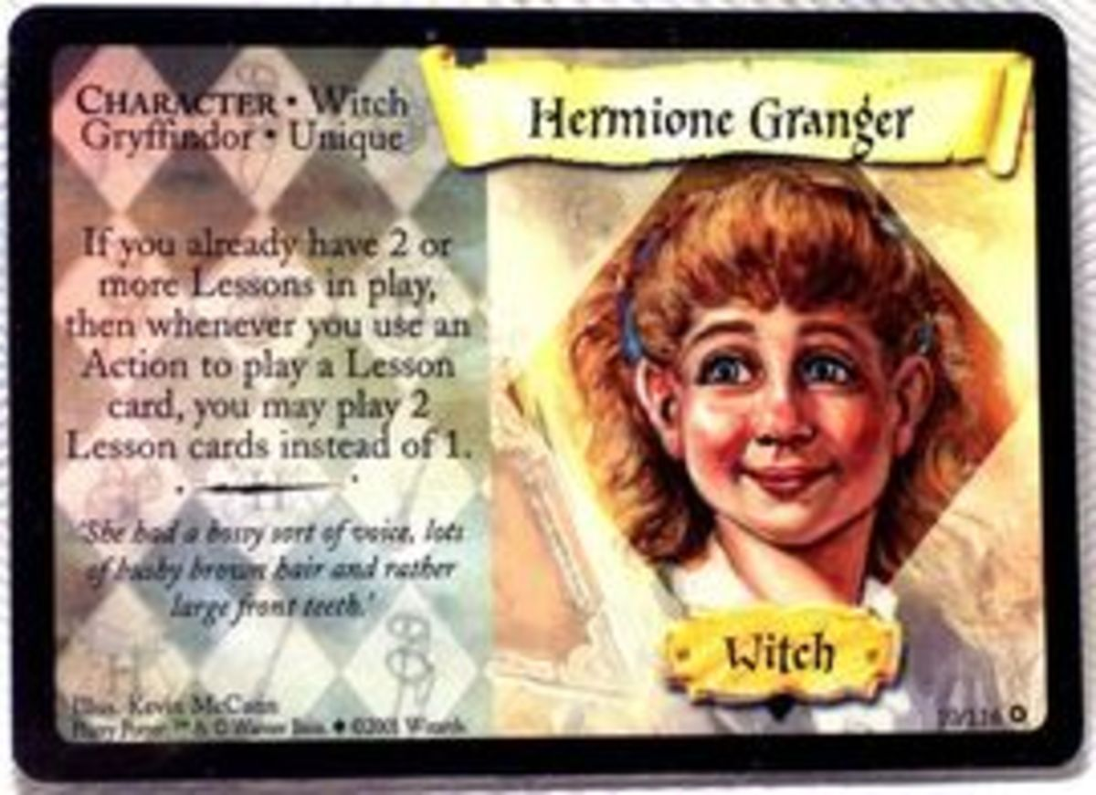 The Hermione character card. Yikes, now I see why the game didn't quite take off.