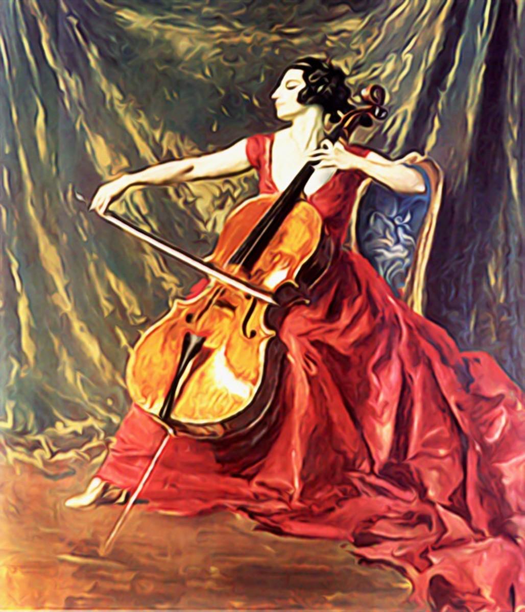 Violin, music, woman playing violin Chromesthesia
