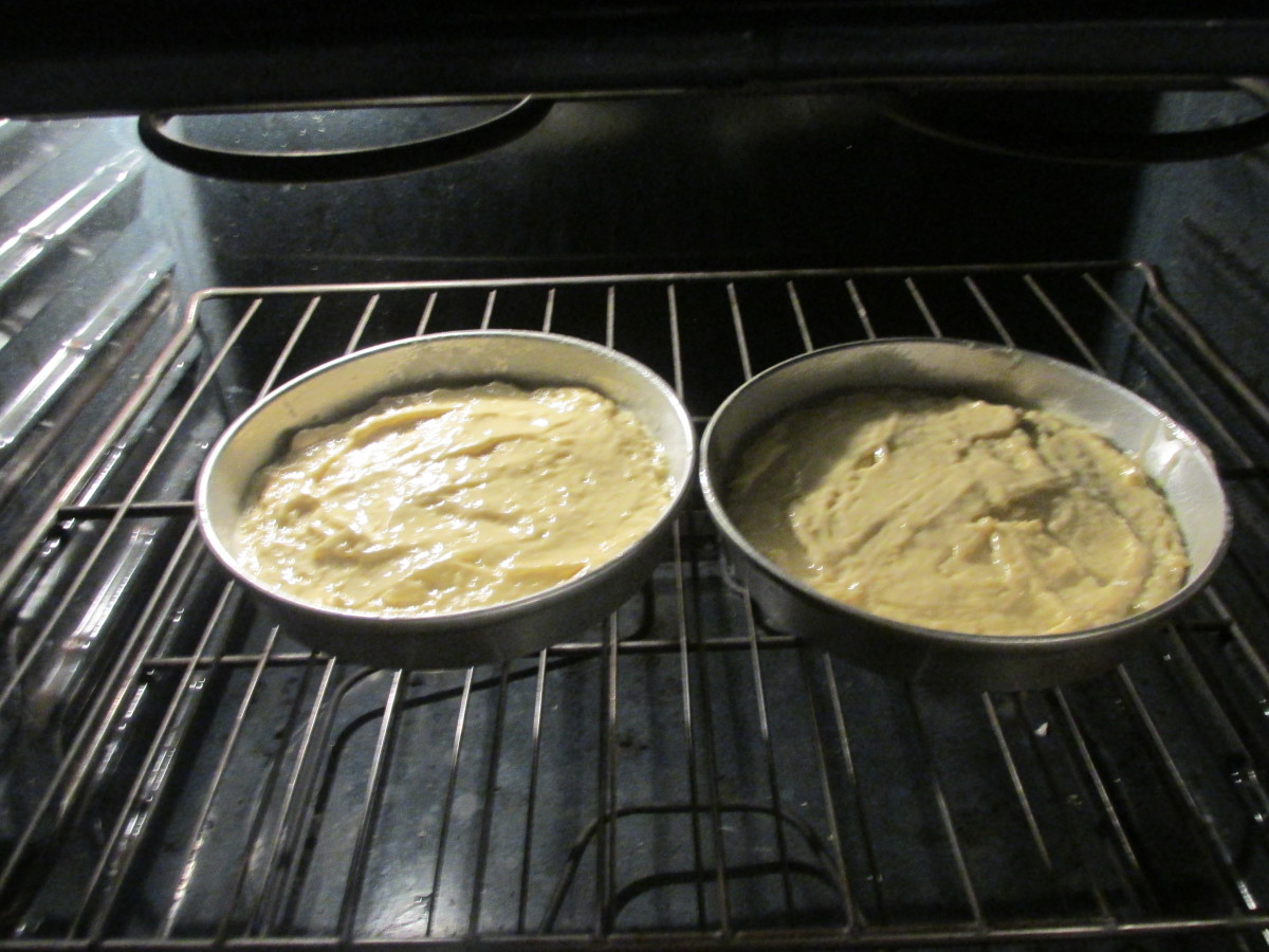 In the oven.