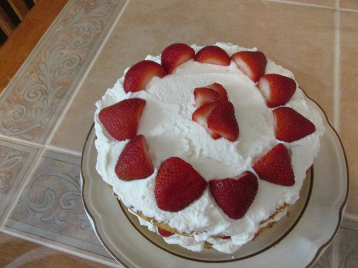 Top view of cake.