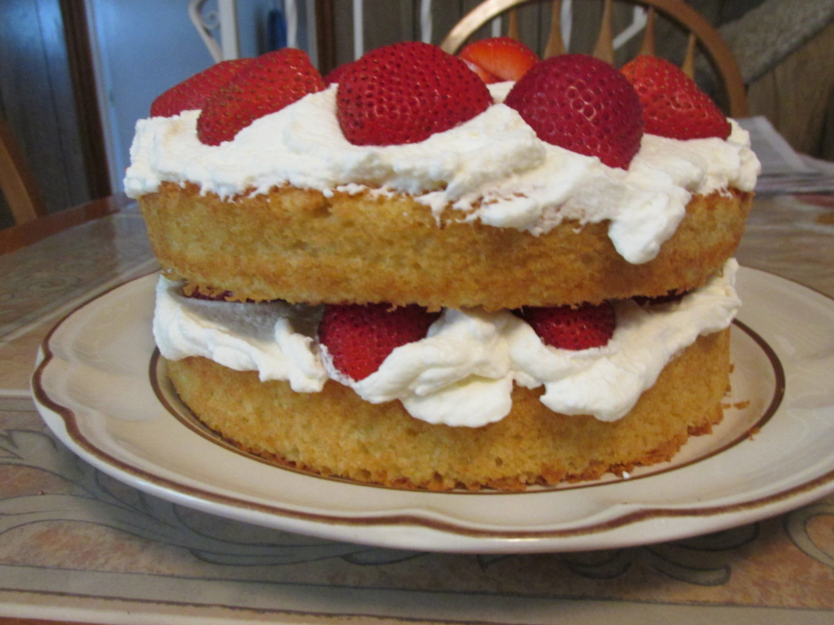 Side view of cake.