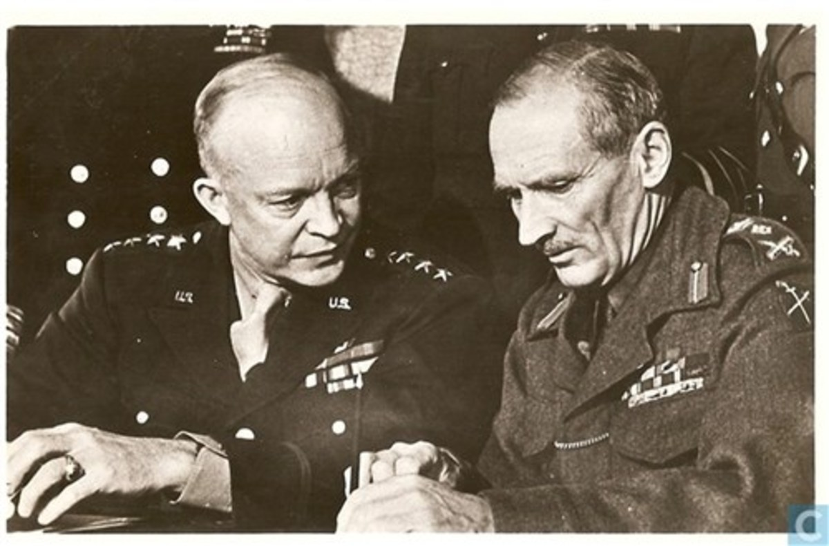 Ike and Monty were deep in conversation when this picture was taken to show the two leaders did discuss their moves, even if Monty at times grew hot under the collar