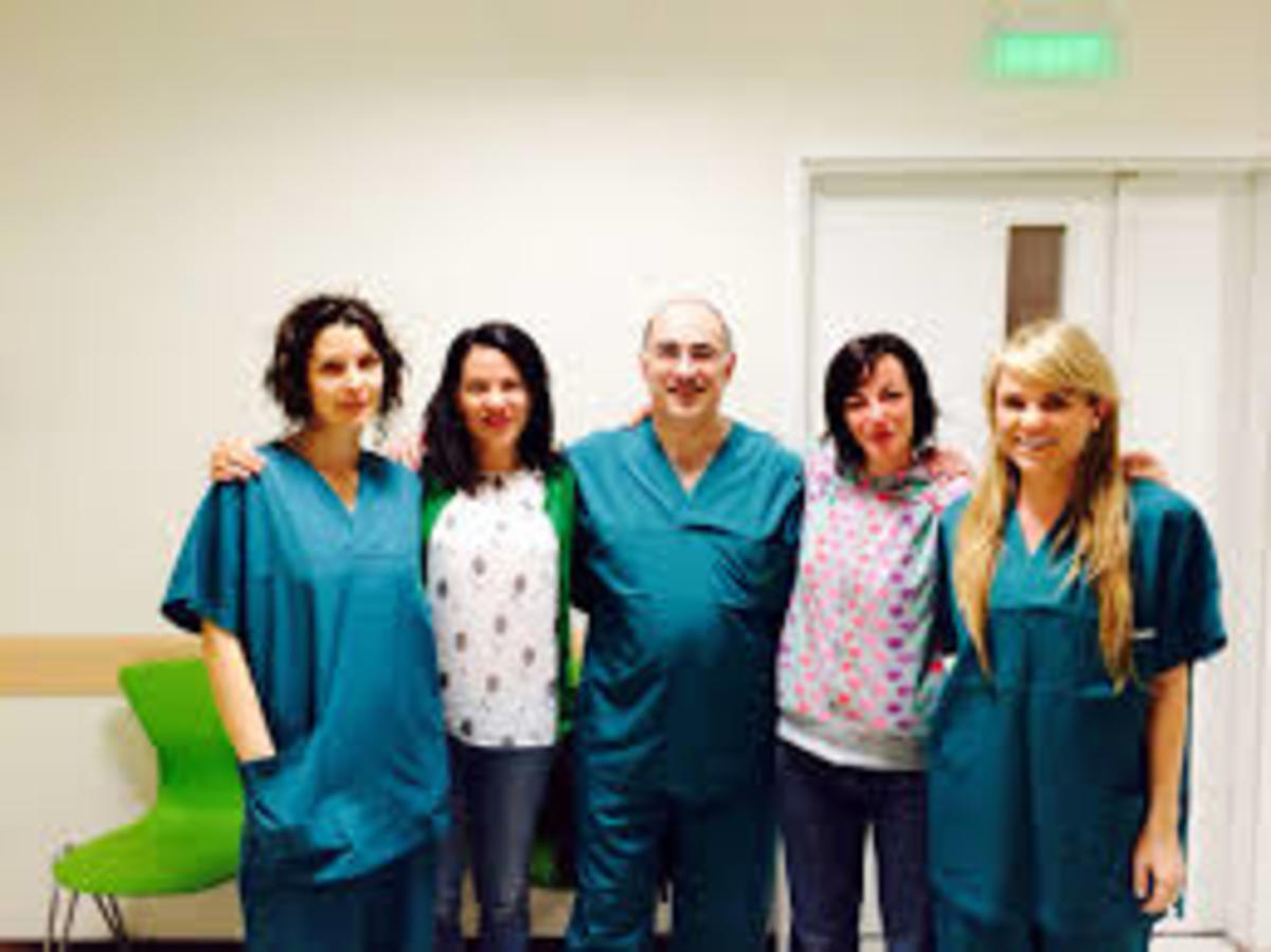 Dr Krigsman, with some of the wonderful Bulgarian mom's Zori and Meena and Dr. Krigsman PA Aftyn. they all help the families that come to Bulgaria.