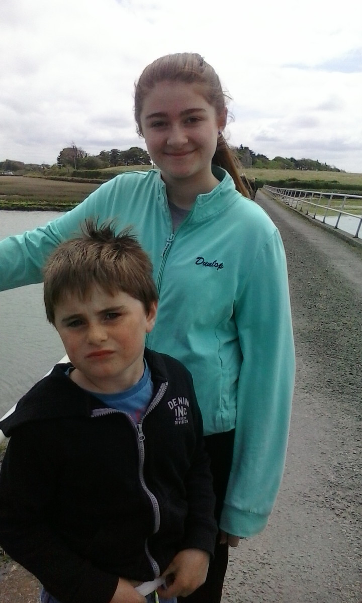 Sasha and Adam at Carrigafoyle, Ballylongford. P