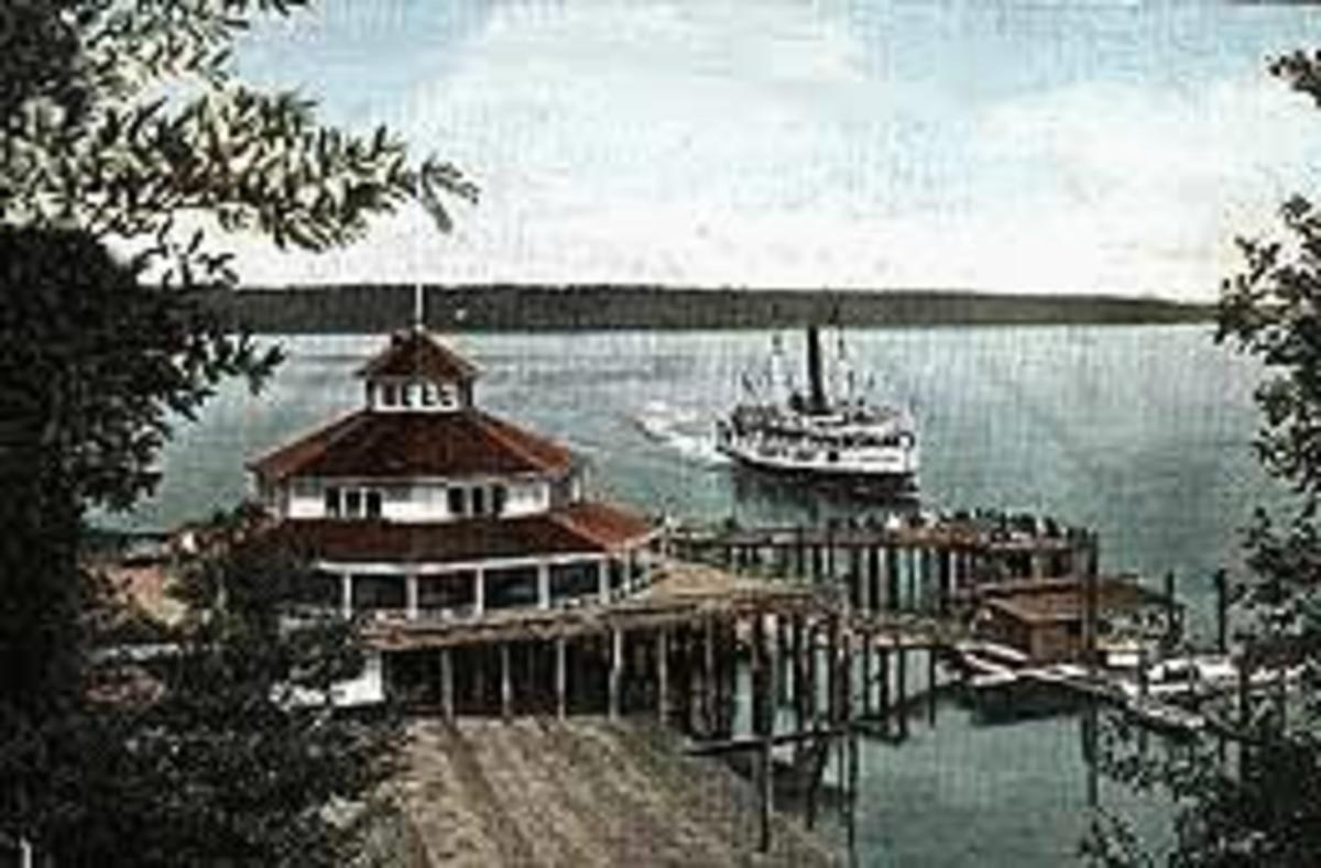 Postcard of Point Defiance Pavillion, 1910