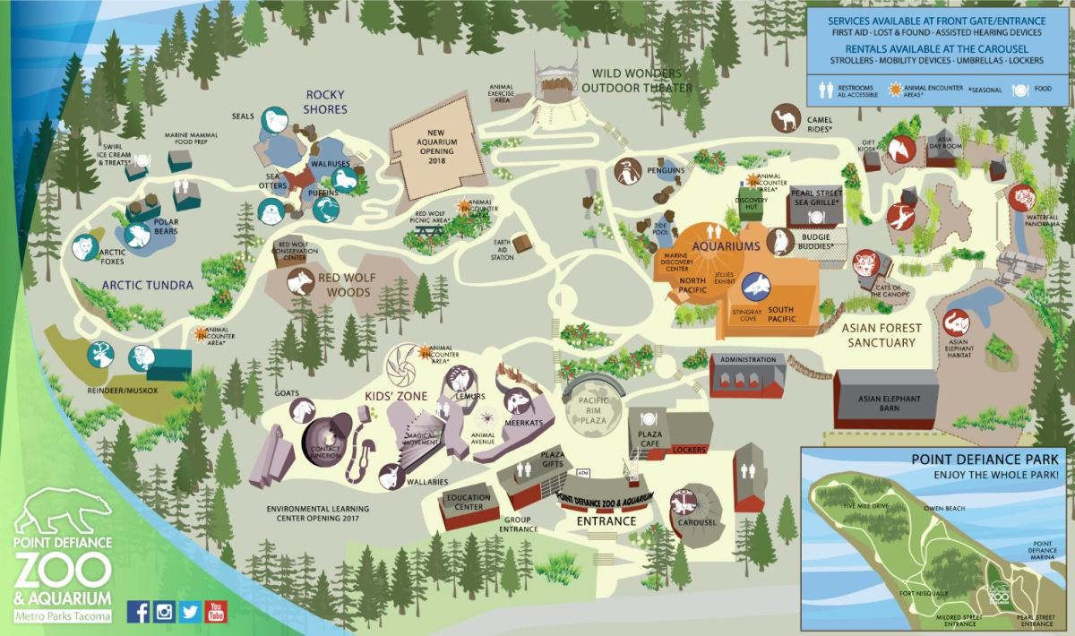 Map of Zoo and Aquarium