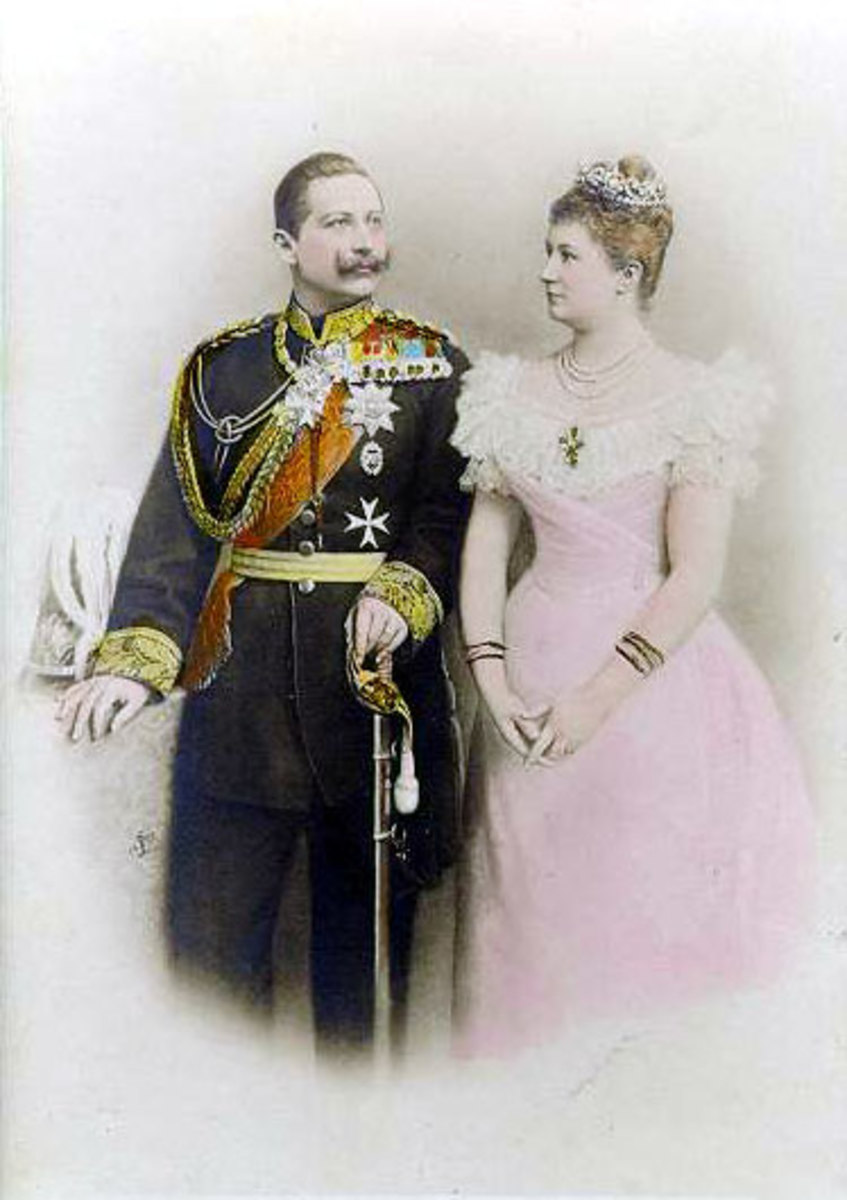 Kaiser Wilhelm II and his wife Auguste Viktoria