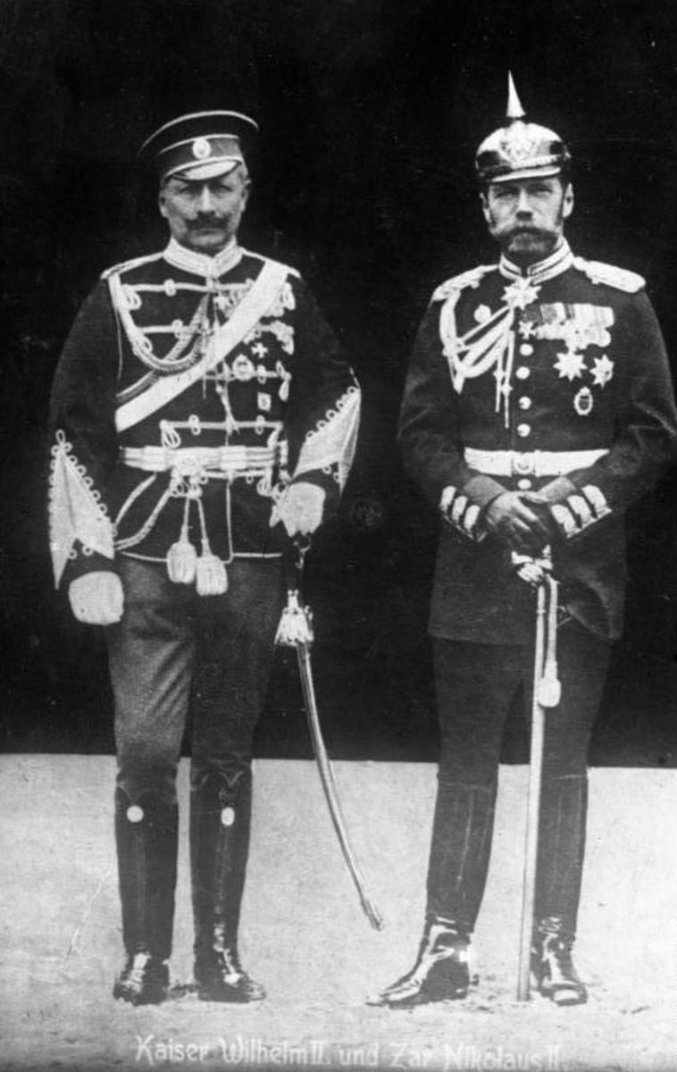 Kaiser Wilhelm II and Tsar Nicholas II of Russia