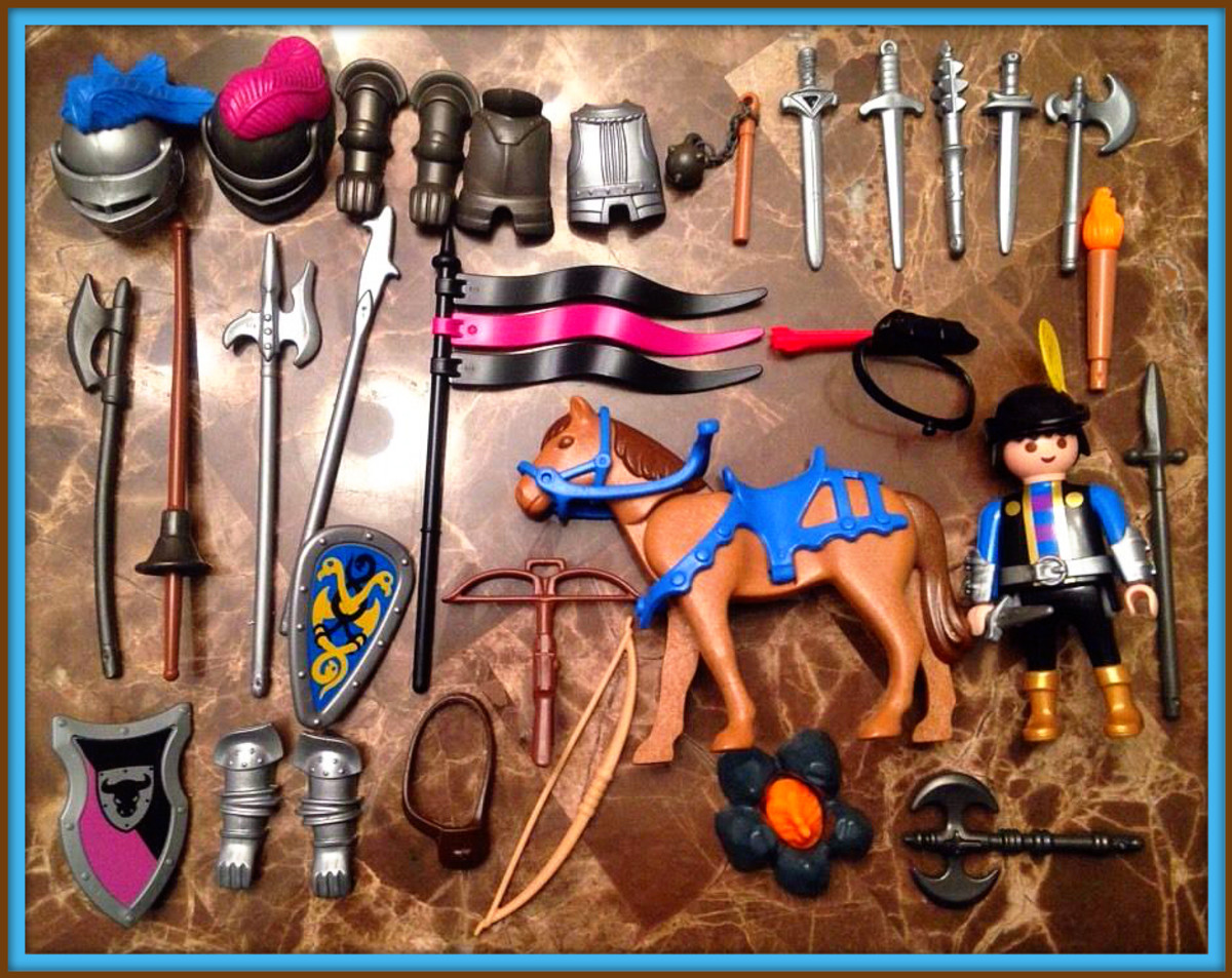 Chivalry and the decadence of the knights can be seen in the amazing set from the Playmobil medieval collection.