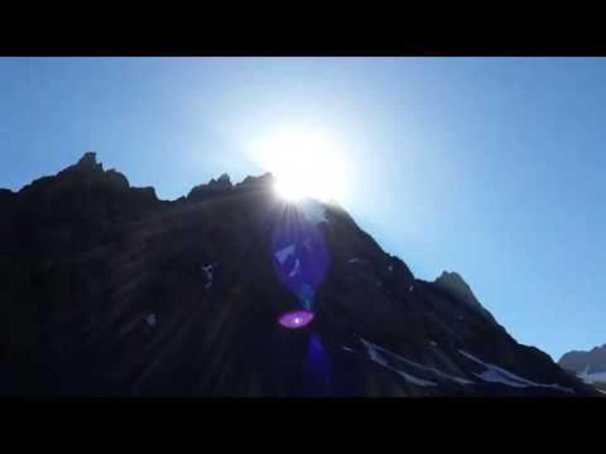 Eye like image created at the base of the Peak