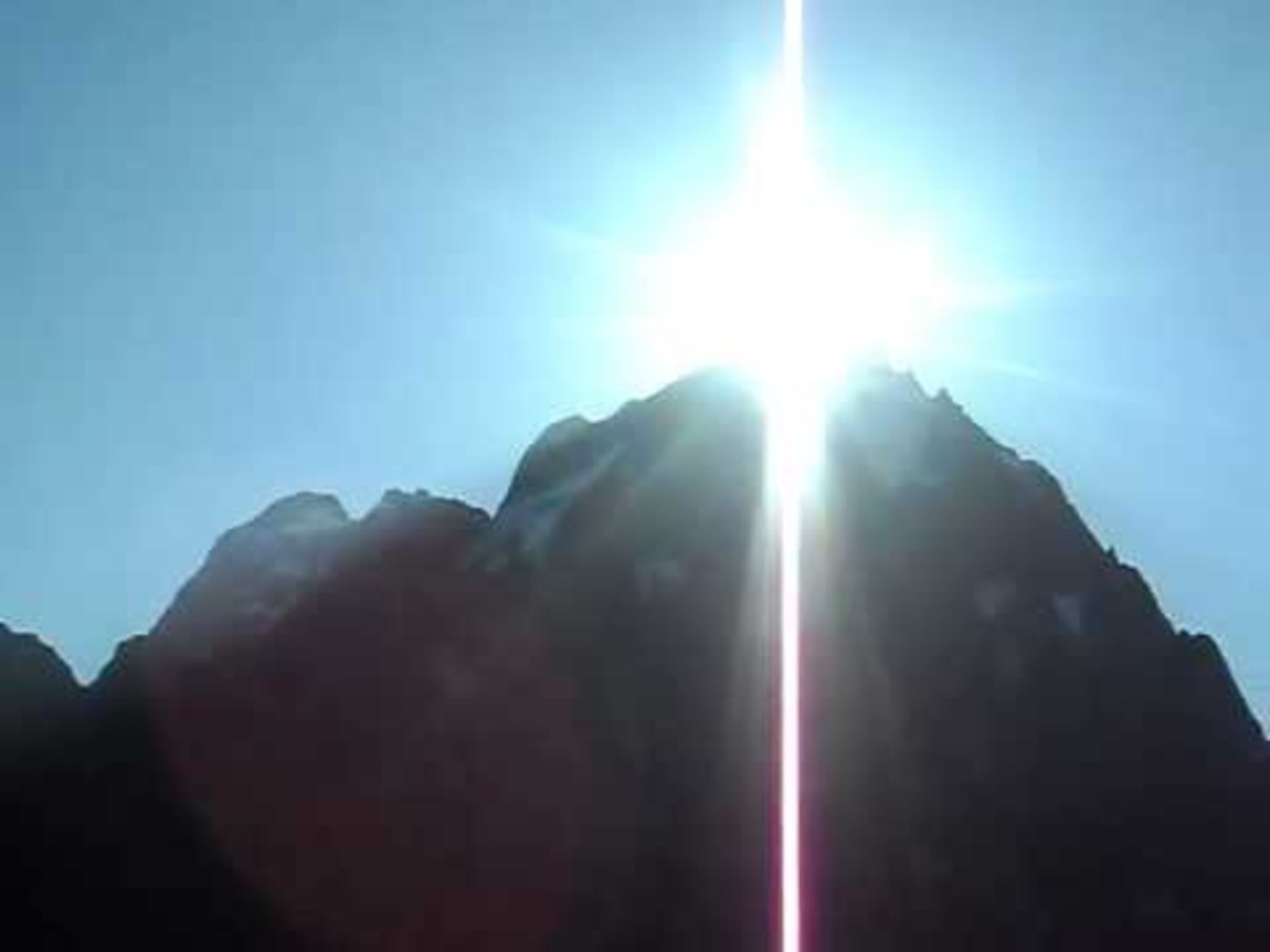 Kailas peak shining like a jewel