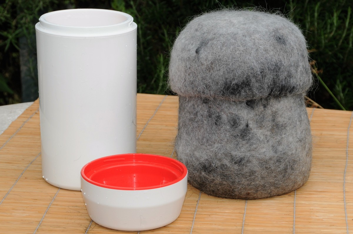 How to Use Your Pets Hair to Make a Wet Felted Memorial Urn