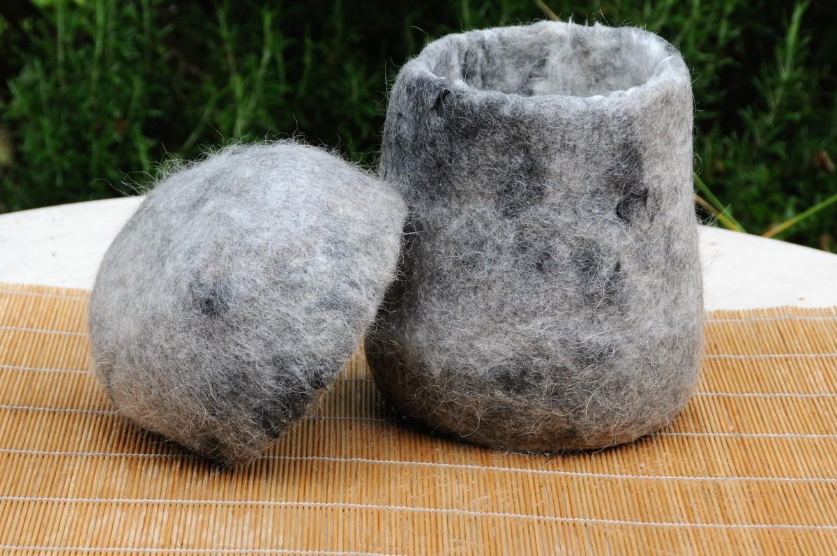 Pet Memorial Urn Made With Dog Hair
