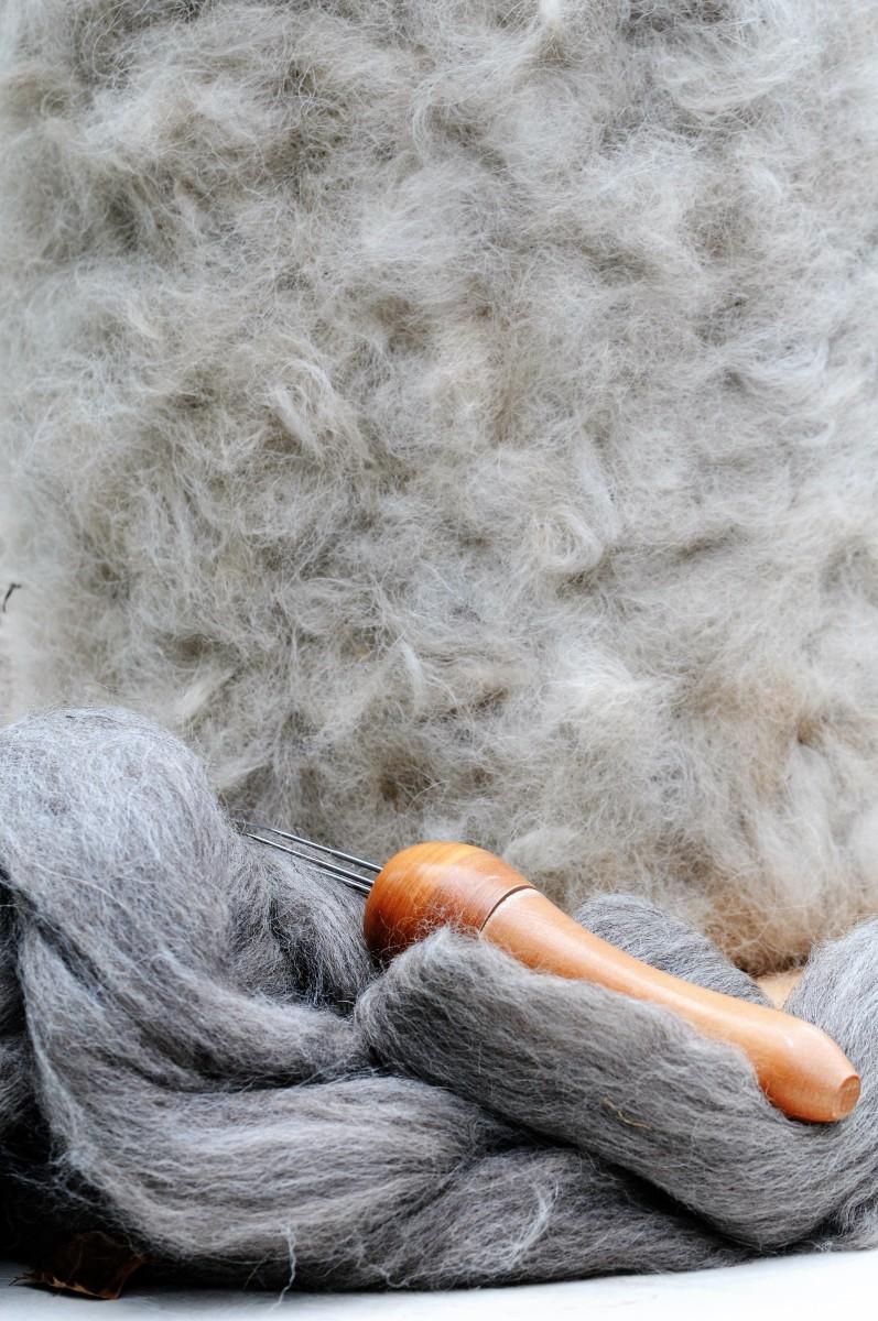 1st Layer of Alpaca fibers
