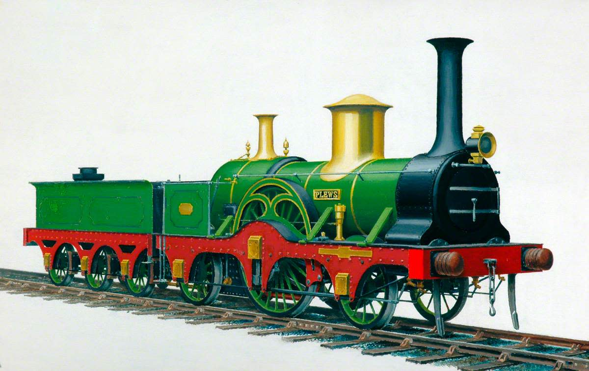 Another YN&BR locomotive, a Plews 2-2-2. Both these locomotives were express classes when carriages were still four wheeled vehicles