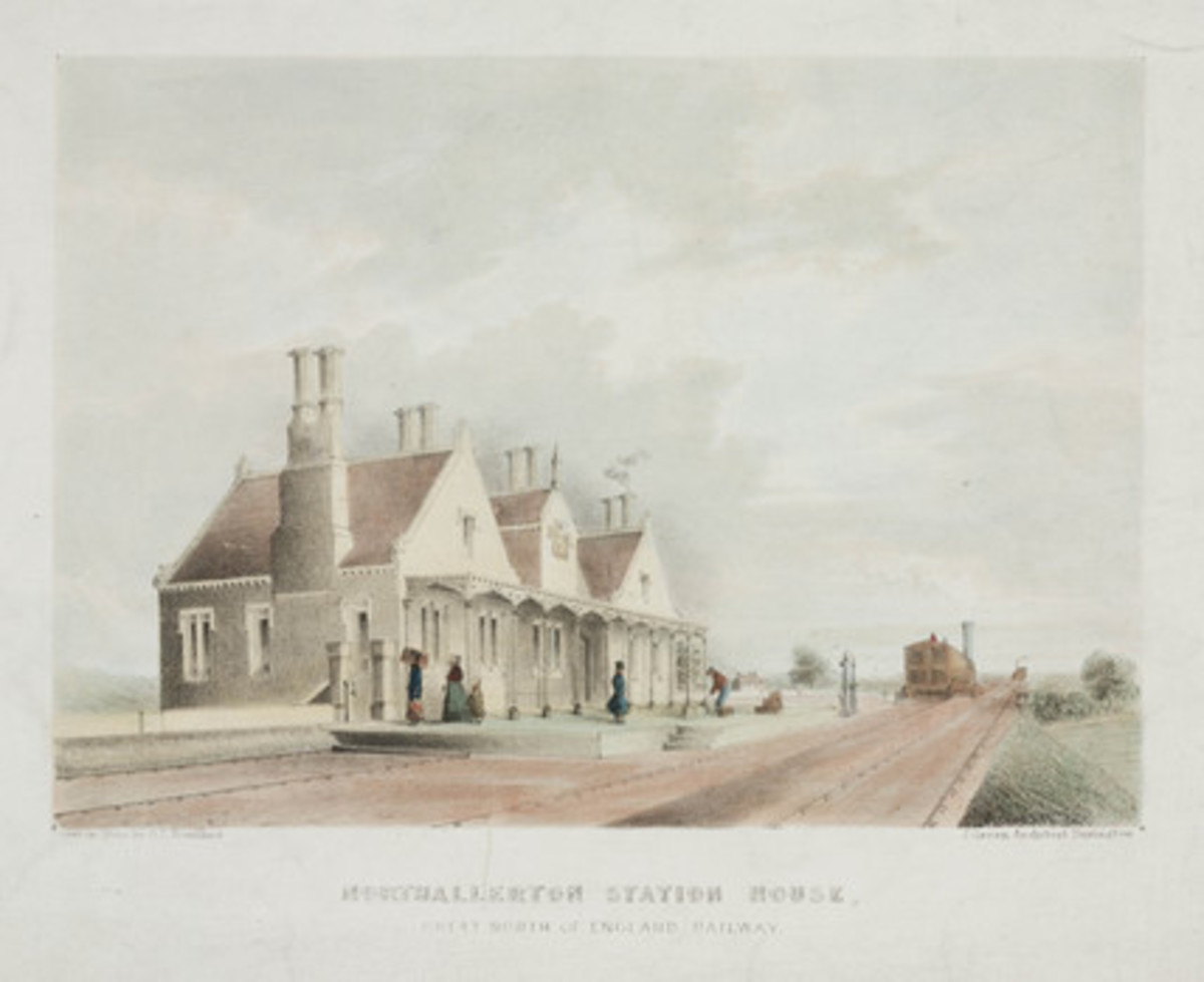 Benjamin Green's handsome 1841 station building for the Great North of England Railway (GNER)