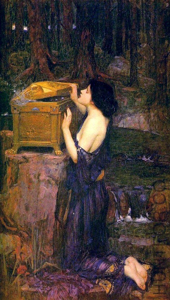 John William Waterhouse: Pandora - 1896
