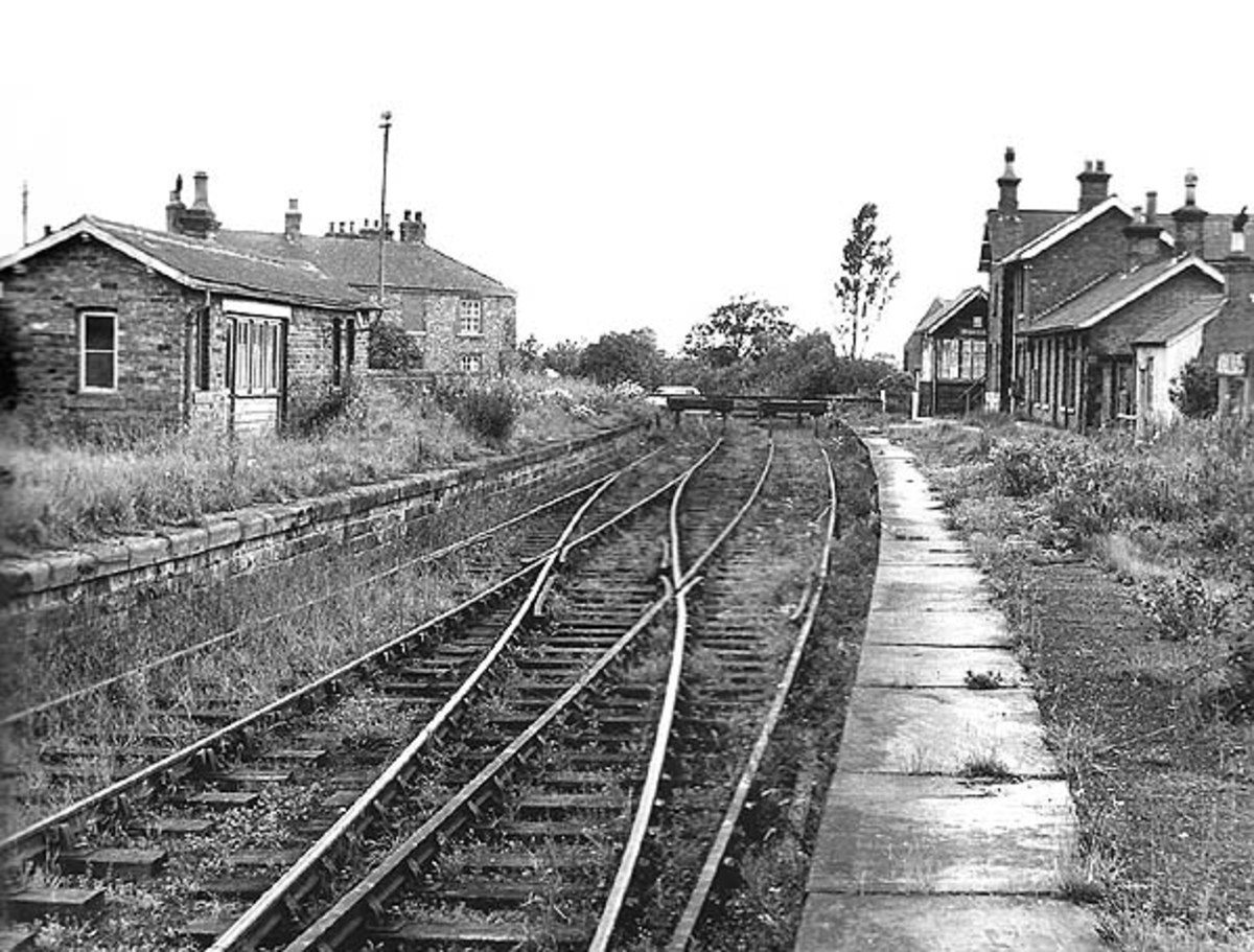 The station in 1963 - goods traffic would only have another two years from here, although only eastward towards Battersby for Middlesbrough.