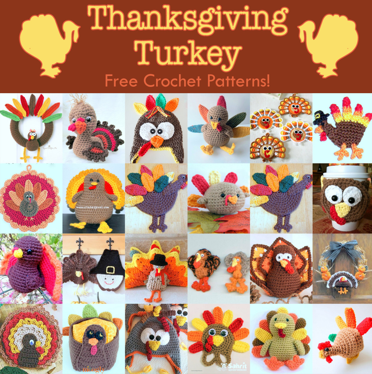 22 Free Thanksgiving Turkey Crochet Patterns