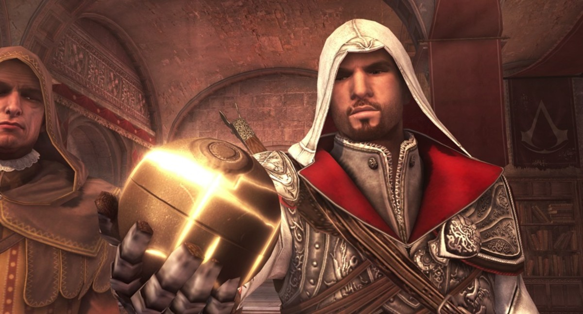 Ezio and the Apple of Eden in Brotherhood