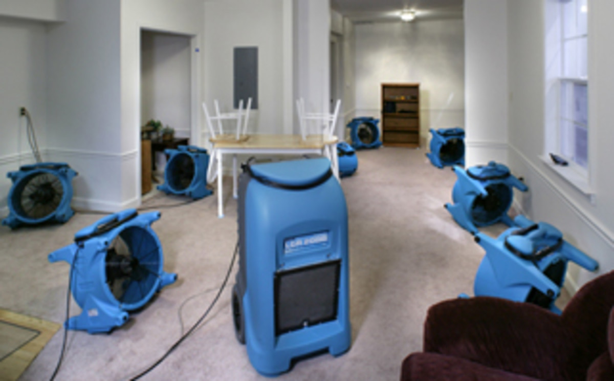 It is common for professional cleaning services to deploy industrial machines to dry out wet carpet.