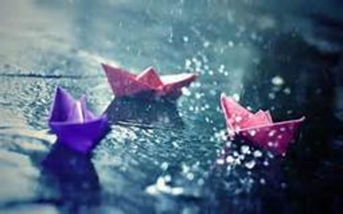 As a young girl, I used to love making paper boats and watching them float down the streams during a rainfall.