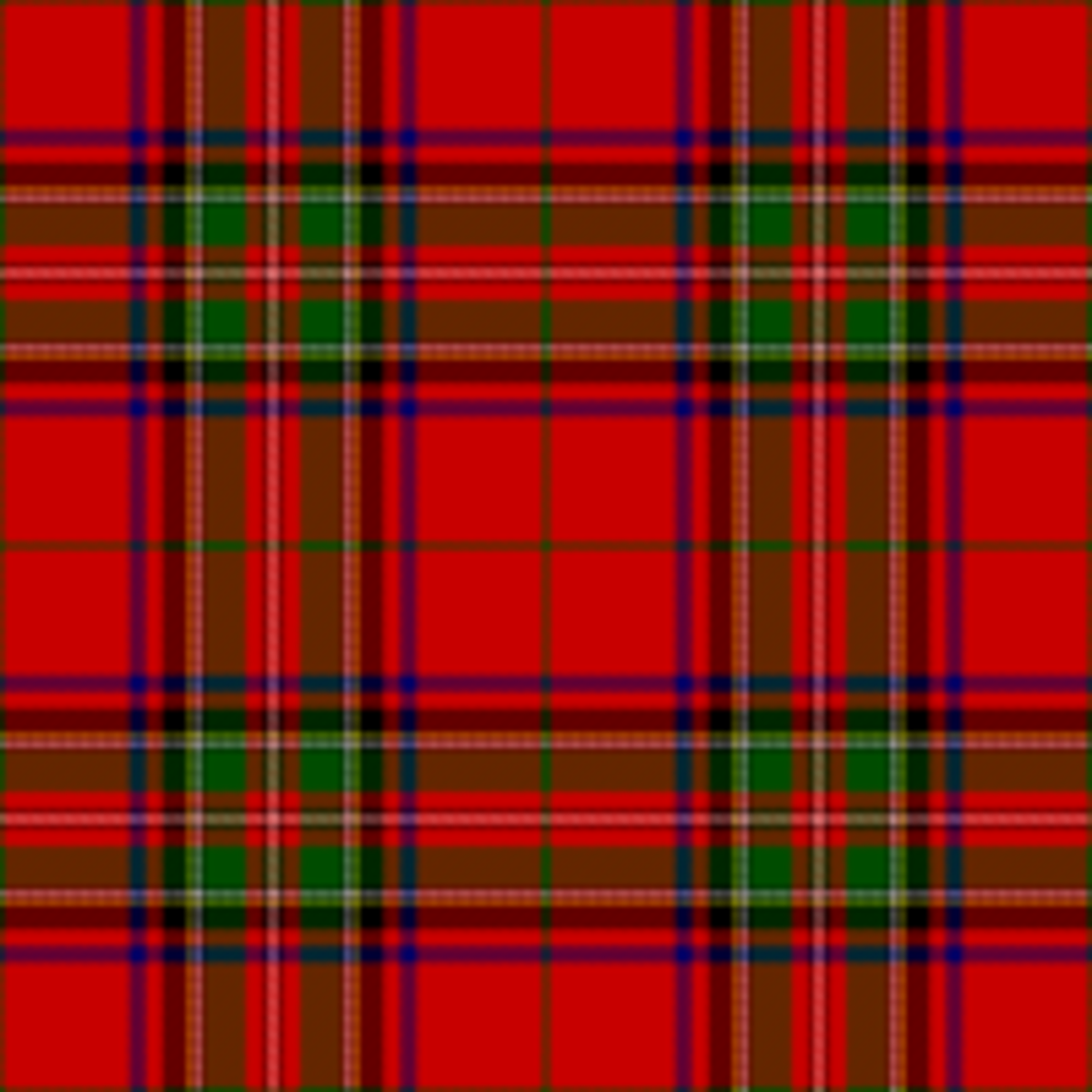 An example of a Scottish tartan, originally woven from wool. Tartans were worn either as kilts or as a shawl slung over the shoulder.