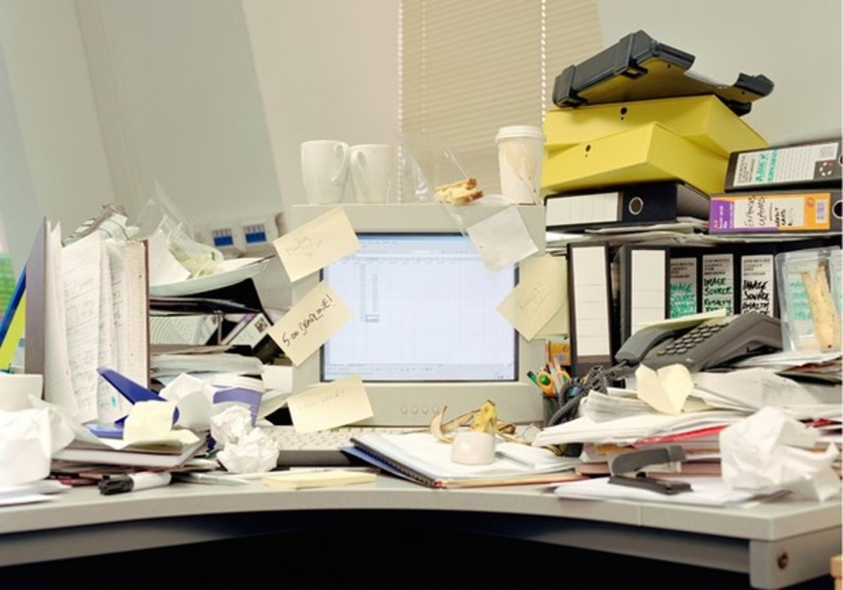 Dangers of a Cluttered and Disorganised Desk