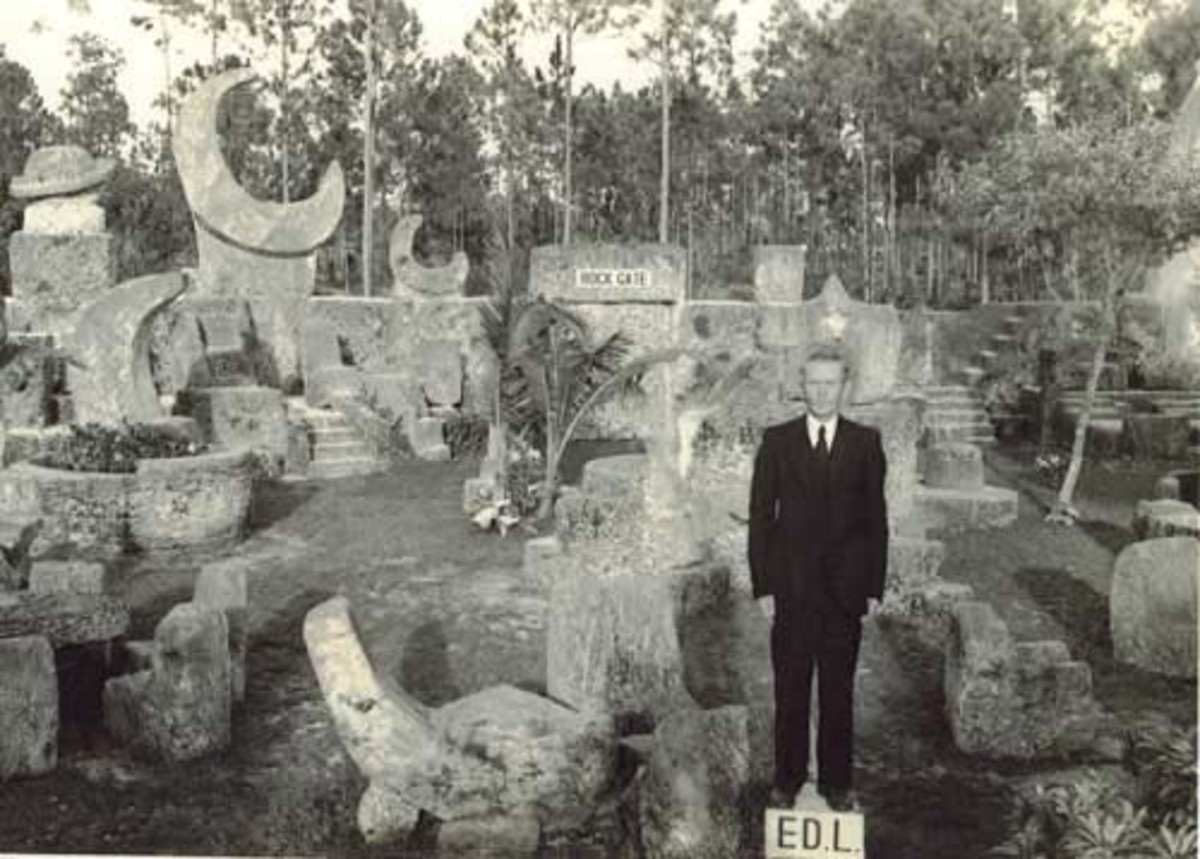 Edward Leedskalnin at Coral Castle