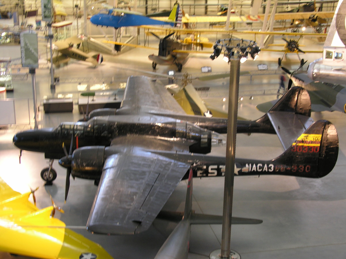 The P-61 Black Widow at the Udvar-Hazy Center, June 2010.