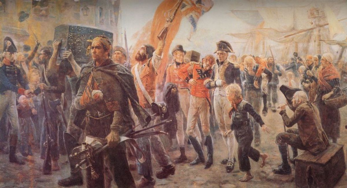 French corsairs with their English prisoneers