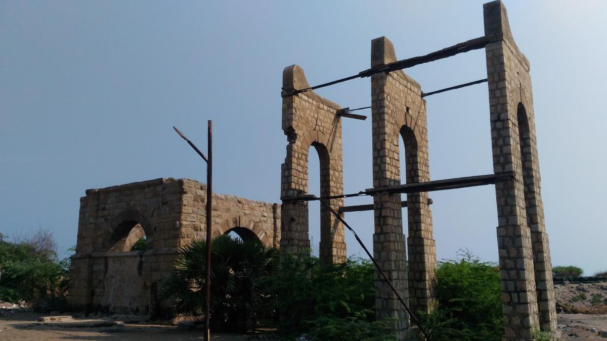 Ruins of Old Railway water-tank building