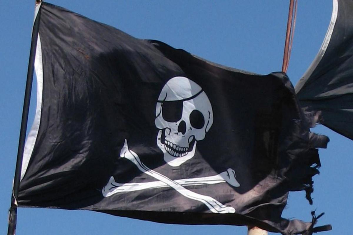 One of the traditional pirate flags brought out and flown when a ship was about to be overtaken, or when pirates were being chased by naval officials.