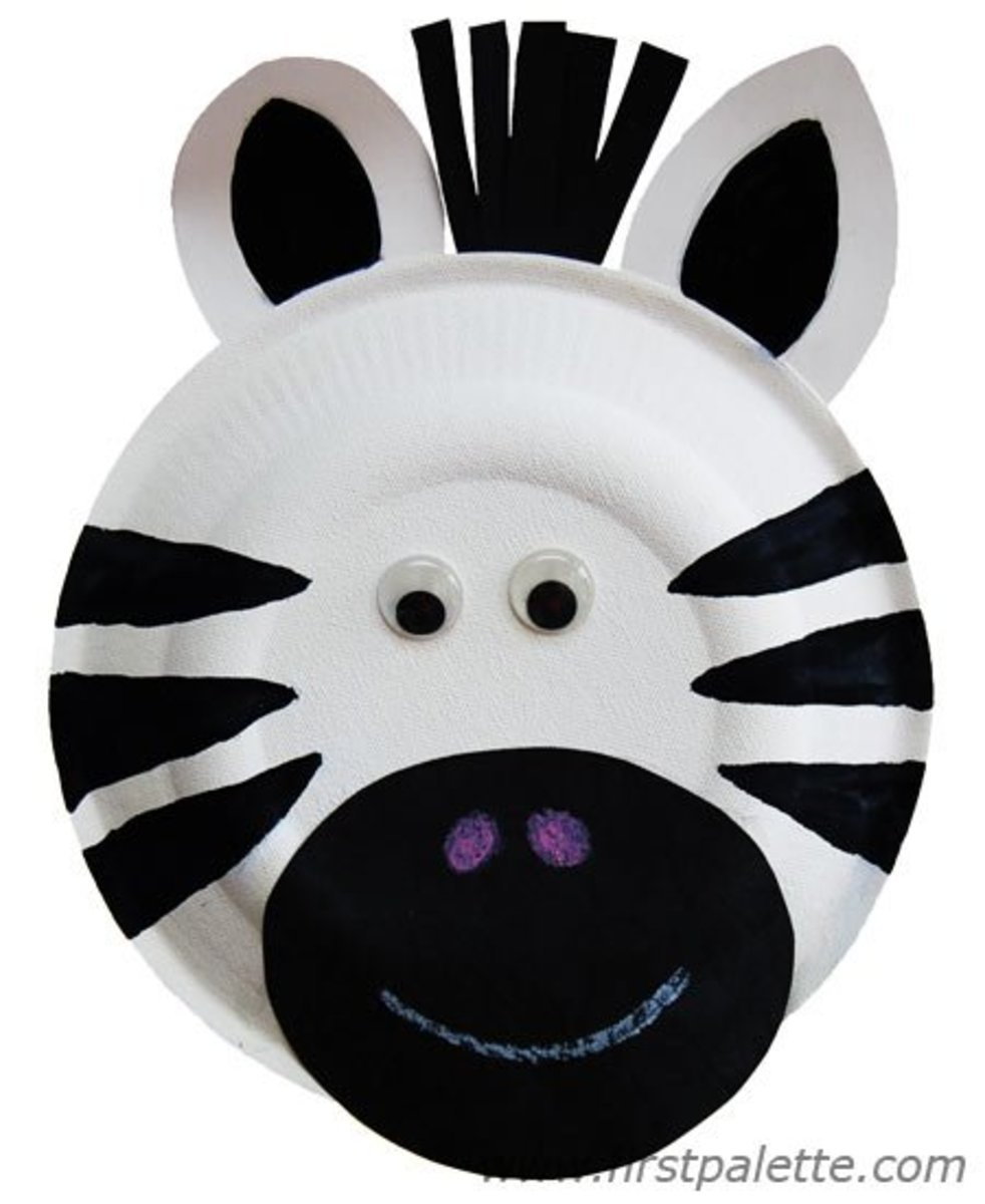 How to Make a Paper Plate Zebra
