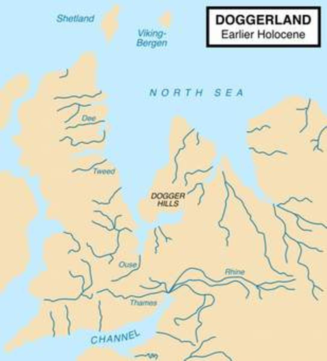 Main rivers that flowed through Doggerland