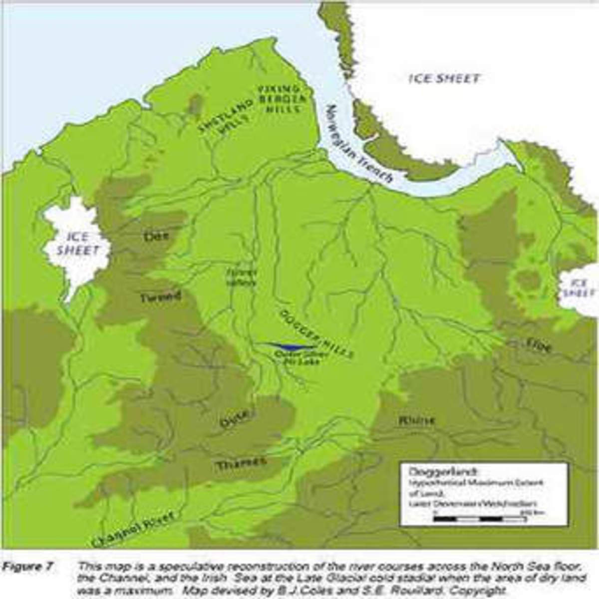 Original extent of Doggerland